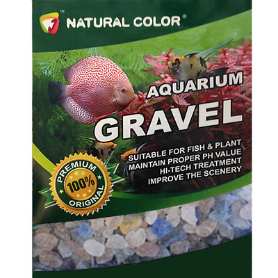 Natural Colour Aquarium Fish Tank Gravel 3-5mm Multi-Coloured Gem Stones 5Kg Bag