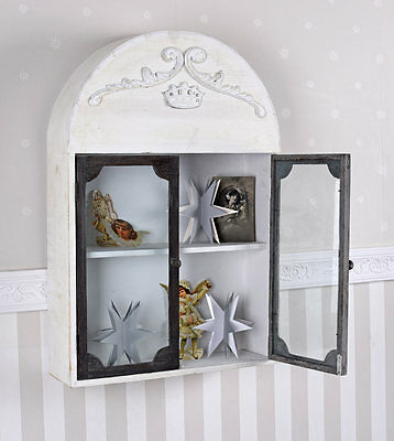 Hanging Display Cabinet Shabby Chic Wall Cabinet Cabinet Vintage Wall Shelf