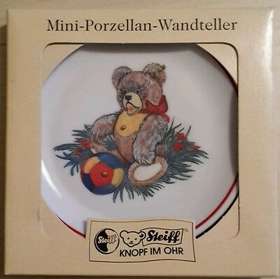 Steiff Mini Porzellan Wandteller Teddy Zotty , 10 cm 613739 ovp