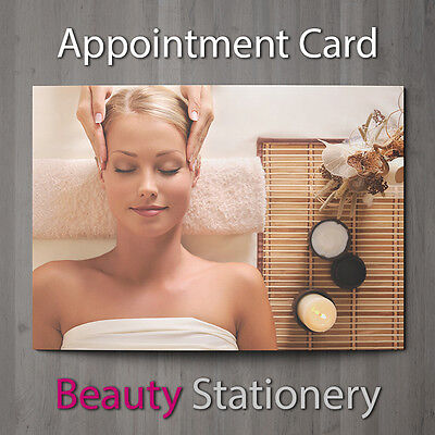 Appointment Card Beauty Nail Massage Hairdressing Therapist Salon A7