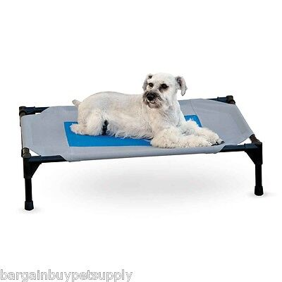 KH Mfg Coolin Cooling Pet Dog Cat Cot Indoor Outdoor Elevated Raised Bed Medium