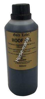 GOLD LABEL HOOF OIL CONTAINS VEGETABLE PINE TAR 500ml or 1L