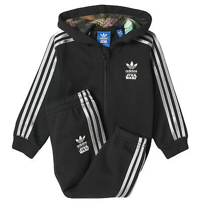 adidas Originals Boys Kids Star Wars Tracksuit Top & Bottoms Set (B Grade)