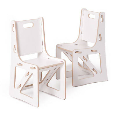 Sprout Kids Chairs - 2 Pack, White - K2C001-WHT