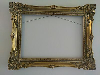 "Estate Sale Auction Victorian Style Ornate Wood Picture Frame 10"" X 14"""