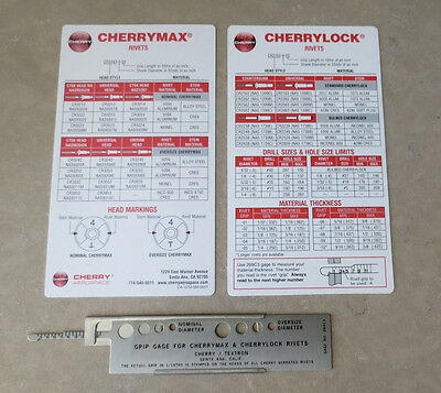 Cherry Max & Cherry Lock Rivet Grip Gage 269C3 - 3 pcs set - NEW