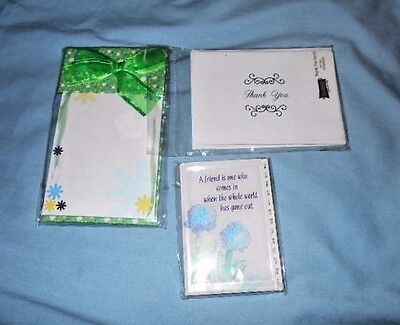 "Small Address Book ""a Friend Is One Who..."" Thank You Notes. And Memo Pad"