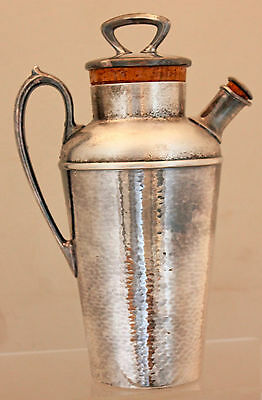 Antique WALLACE Hand Hammered Arts & Crafts SilverPlate Cocktail Martini Shaker
