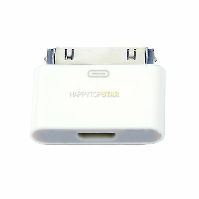 Micro USB Sync Data Adapter to 30 Pin For Iphone 4 Ipad 2 3 & For Samsung Galaxy
