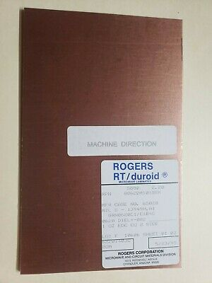 2 sheets, Rogers H.Frequency Laminates RT/duroid  .062,  1 oz. double sided