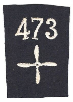 Army Patch: Enlisted Aviator (Pilot), 473rd Aero Squadron - WWI