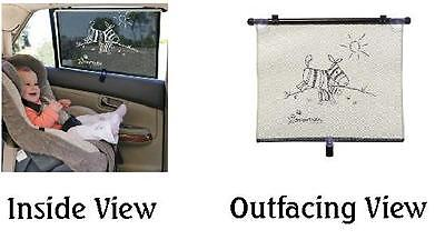 Dream Baby Extra Wide Sun Shade for Truck/SUV, Zebra