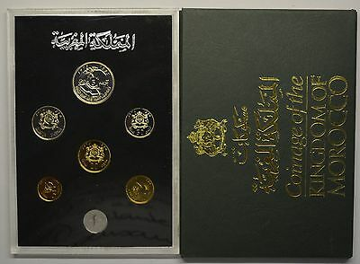 GN734 - Morocco Official Coins Set 1974-1975 KM#MS1 in Original Box Mint Set KMS