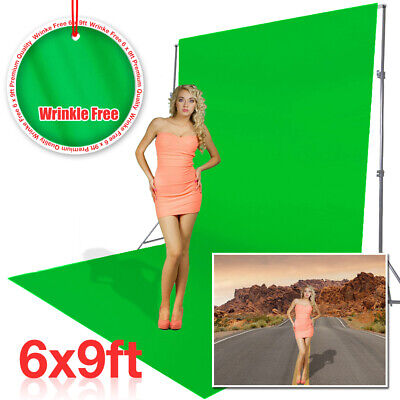 6 x 9ft Green Muslin Backdrop Photo Video Photography Background Washable