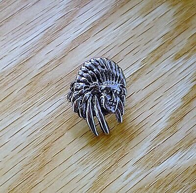 Indian Chief Pin Indian Motorcycle Native American