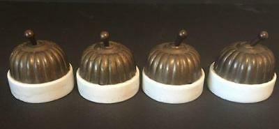 Antique Brass and Porcelain Art Deco Clipsal Toggle Switch Steampunk