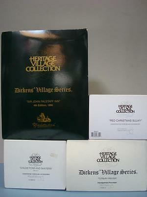 4) Dept 56 Village Items - Sir John Falfstaff Inn, Tutbury Printers + More L@@K