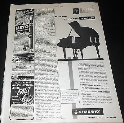 1950 STEINWAY Model S Grand PIANO Ad ~ this Christmas act wisely! ~ Serkin photo