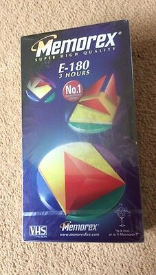Memorex VHS Video Tapes E180 double pack Brand new sealed