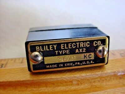 Bliley Electric Quartz Radio Crystal 3679 KC Type AX2 Ham Radio Made in Erie, Pa