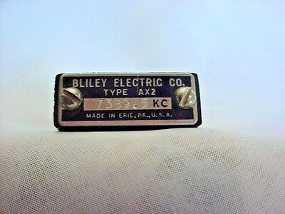 Bliley Quartz Radio Type AX2 Crystal 7389.5 KC Frequency Made in USA Ham Radio