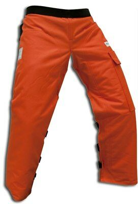 FORESTER Orange Chainsaw / Chain Saw Safety Chaps Leg Protection       CHAP437-O
