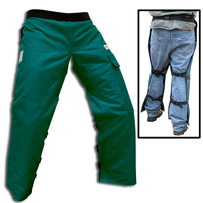 FORESTER Green Chainsaw / Chain Saw Safety Chaps Leg Protection        CHAP237-G