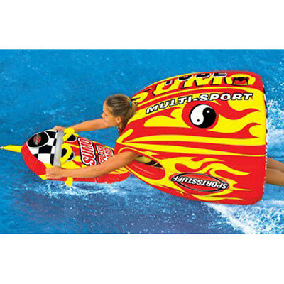 Sports Stuff Sumo Stunt Towable Ski Tube Inflatable Biscuit Boat Ride with Splas