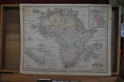 1858 Map Of Africa, Unexplored Ethiopia Region, Tripoli, Liberia Inset