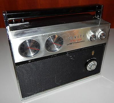 Vintage 1960's Zenith Royal 2000-1 AM/FM Transistor Radio 2 Antenna Project