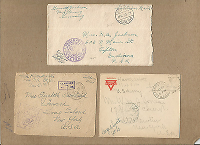 Us Forces-Ww1,very Fine&useful Lot Of 9 Soldier Covers To Us.#1