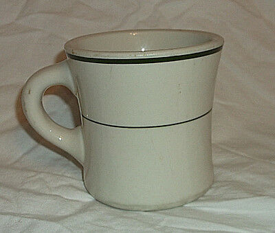 Shenango China Restaurant Ware Green Band Coffee Mug Cup