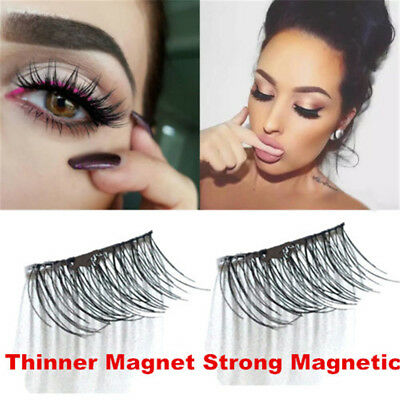 3D Magnetic False Eyelashes No Glue Thinner Magnet Extension Eye Lashes Handmade