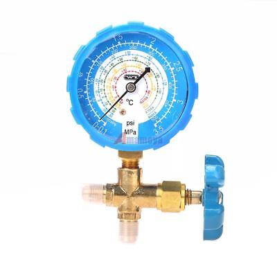 R134A R410A R22 Low Pressure Single Gauge Brass Valve A/C Refrigerant HVAC 1/4''
