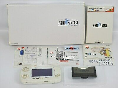 Wonder Swan Color Console System FINAL FANTASY 1 FF1 Limited Boxed 25004 ws