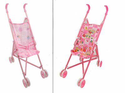 12  Doll Stroller 2 Assorted Girls Toy For Dolly Bulk Wholesale Lot