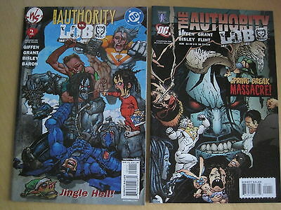 LOBO / The AUTHORITY : SET of 2 ONE SHOTS by GIFFEN,GRANT,BISLEY. V ADULT. DC/WS