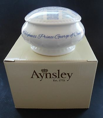 Aynsley Prince George of Cambridge Commemorative Royal Baby Trinket Box Bowl