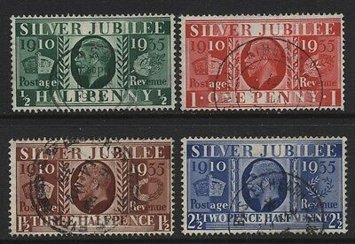 1935 ½d-2½d SILVER JUBILEE VERY FINE USED SET OF FOUR. SG 453-6