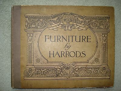 RARE 1900's HARDBACK CATALOGUE - FURNITURE BY HARRODS ILLUSTRATED WITH PRICES