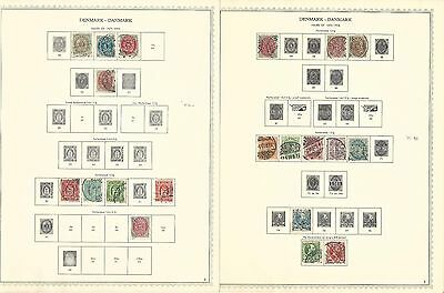 Denmark Collection 1851-1964 on 21 Minkus Specialty Pages, Lots of Stamps