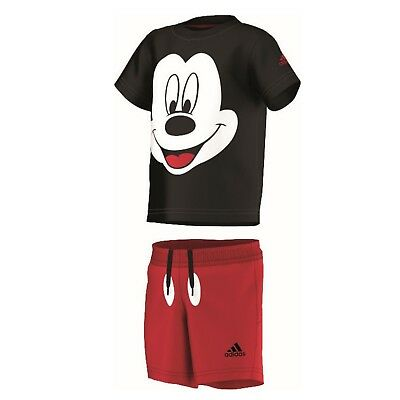 adidas Mickey Mouse Sommer Set T Shirt + Hose Short für Kinder