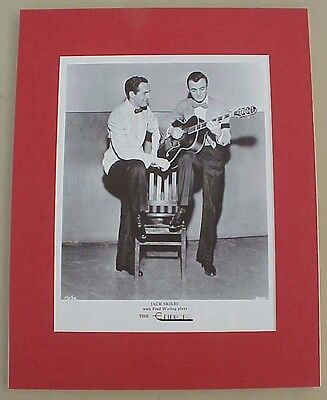 Jack Skiles with Fred Waring EPIPHONE guitar reproduction print ad pro matted