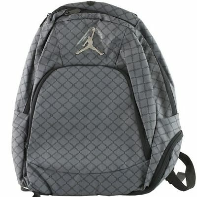 NWT Nike Air Jordan Gray Laptop Bag Backpack School Book Bag  New