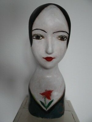 Antike Japan China Marotte Mannequin Asia Modiste Japanese Mache Head