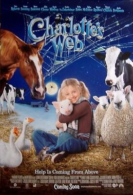 Charlotte's Web (2006) Original D/S Regular One-Sheet Poster,  Dakota Fanning