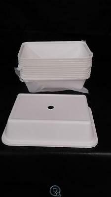 """12 Carlisle Polypropylene Universal Compartment Tray Covers Fit 10"""" x 14-1/2"""""""