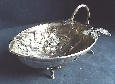 "SUPERB 9"" ~ SILVER Plated ~ NUT Shaped ~ BOWL ~ c1900"