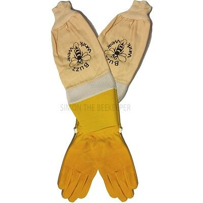 Ventilated superior beekeepers Bee Gloves Gold soft hide - ALL SIZES