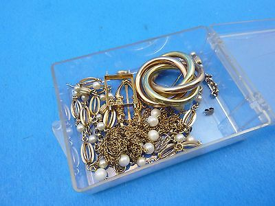 Vintage 42.8g Gold Filled Scrap Recovery Resell Repair Krementz Necklaces Pearls